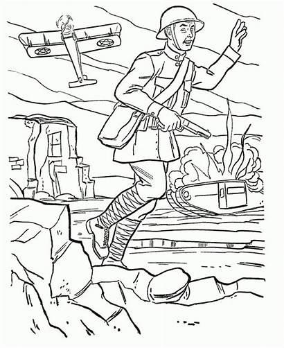 Coloring War Ww1 Army Coloringdoo