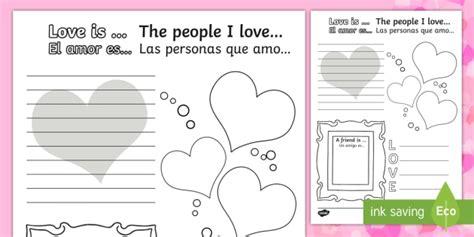 new valentine s day activity sheet english spanish