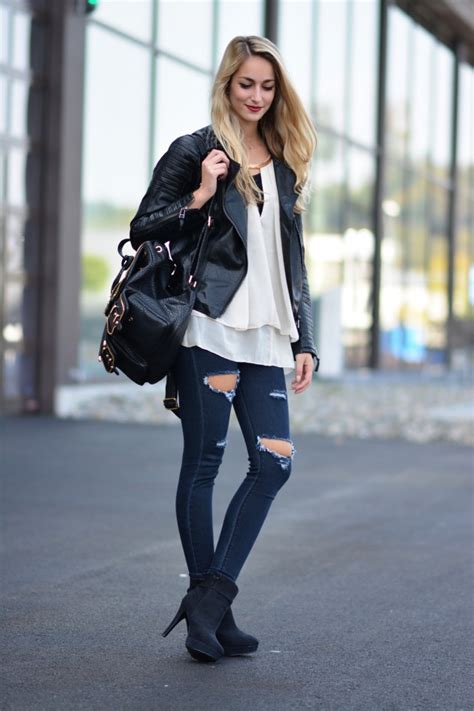 15 Ways To Style The Black Leather Jacket This Spring - fashionsy.com