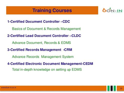 document management training consultancy edms software