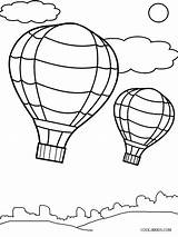 Balloon Coloring Air Template Printable Drawing Balloons Templates Cool2bkids Preschool Sheets Craft Drawings Getdrawings Paintingvalley sketch template