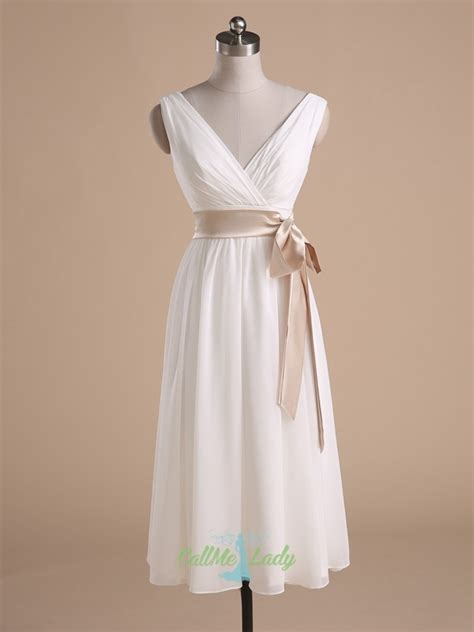 elegant sleeveless short bridesmaid dresses  sash