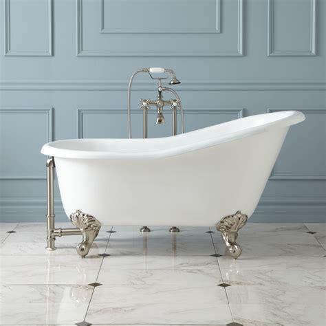 clawfoot tub 57 quot erica cast iron slipper clawfoot tub imperial feet bathroom