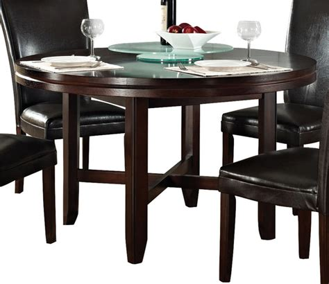 52 round dining table steve silver hartford 52 inch round dining table