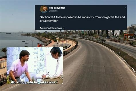 Sec 144 in Mumbai: Panicked Netizens Float Memes Despite ...