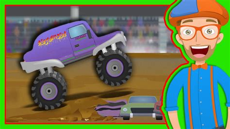 monster truck music videos monster trucks for children with blippi the monster