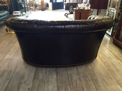 chesterfield sofa dark brown dark tobacco brown curved tufted leather chesterfield sofa