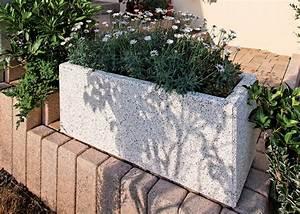 jardiniere beton rectangulaire design contemporain pour le With chambre bébé design avec grand bac fleur