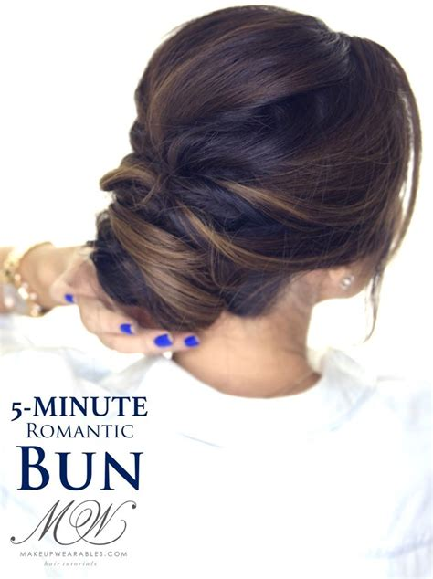 5 minute elegant bun hairstyle click to watch