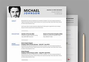 resume cv psd template graphicsfuel With cv template photoshop
