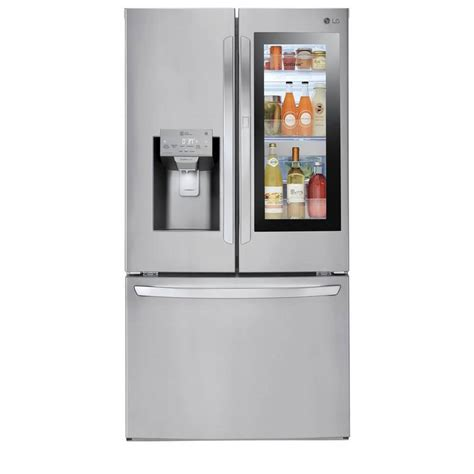 lg   smart french door refrigerator stainless steel  appliance outlet