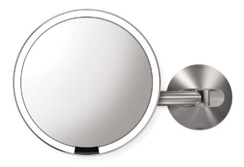 rechargeable wall mounted lighted makeup mirror simplehuman 8 inch wall sensor mirror lighted makeup mirror rechargeable
