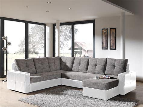 canapé d angle gris pas cher photos canapé d 39 angle convertible gris et blanc pas cher