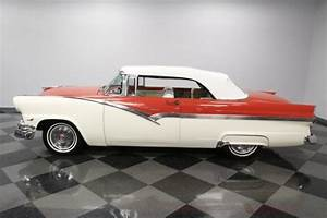 1956 Ford Fairlane 500 Sunliner 14680 Miles Coral Red Convertible 312 V8 3 Speed For Sale