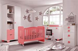 chambre bebe fille gioco couleur blanc et rose glicerio With chambre de bebe fille photo