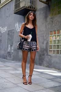 Tenue Printemps Femme : street style 9 id es de tenues avec un short fashion tenue idee tenue et vetements ~ Melissatoandfro.com Idées de Décoration