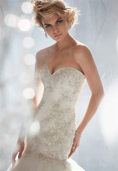 Silver Wedding Theme Bridal Gowns By Mori Lee by Madeline Gardner Archives   Weddings Romantique