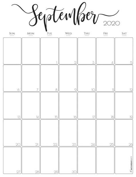 vertical  monthly calendar stylish
