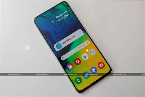 samsung galaxy a80 with rotating snapdragon 730g soc launched in india price