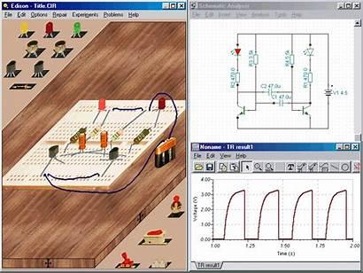 Edison Circuits Electronics Electricity برنامج 3d Breadboard