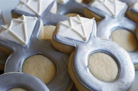 wedding ring shaped cookies foodista propose with these engagement ring cookies