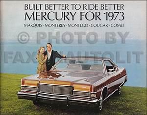 1973 Mercury Cougar Foldout Wiring Diagram Original