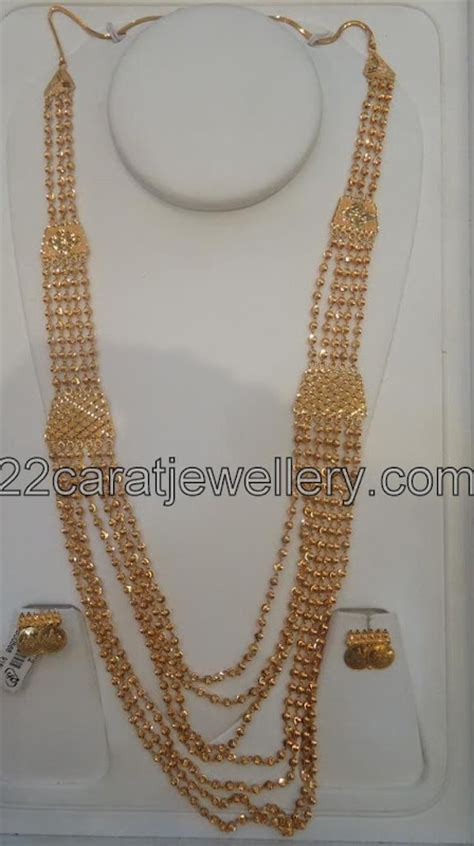 gold chandra haram jewellery designs