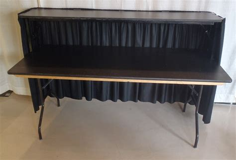 Rent A 6' Portable Bar With Skirting For Your Party At All. Desk Chair Ergonomic Requirements. Corner Desk Extender. Glass Dinning Table. Stiga Master Series St3100 Competition Indoor Table Tennis Table. Hidden Desk Furniture. Tulsa Desk Blotter. Old Wood Table. Tall Storage Drawers