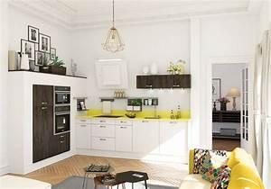Petite cuisine decouvrez toutes nos inspirations elle for Cuisine avec salle a manger intégrée pour petite cuisine Équipée