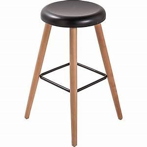 Tabouret De Bar Noir Et Bois : chaise tabouret chaises de s jour tabourets de bar ~ Teatrodelosmanantiales.com Idées de Décoration