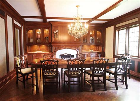 Mahogany Chippendale Chairs For Elegant Formal Dining Rooms