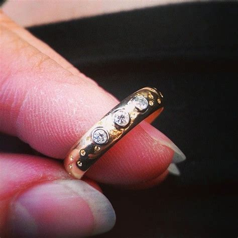 hand crafted 30th wedding anniversary 18kt gold and