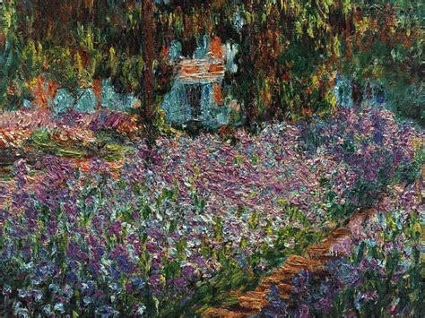 claude monet painting le jardin de monet les iris