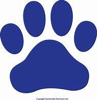 Blue Paw Print Clip Art