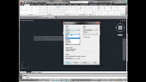 Autocad Start A New Drawing Set Units And Grid Youtube