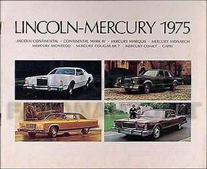 1975 Mercury Meteor  Marquis And Grand Marquis Foldout Wiring Diagram Original