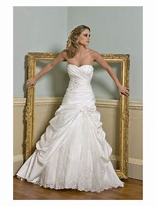 oppulence lotus satin wedding dress fitted to hip ivory With satin lace wedding dress