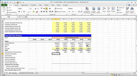financial modeling quick lesson building  discounted