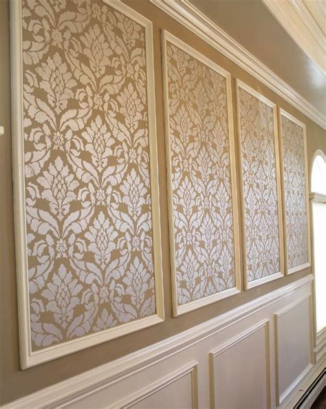 classic damask stencil   wall furniture stencils