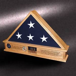 "5x9 ""Lite Display Base"" Flag Cases by Greg seitz Woodworking"