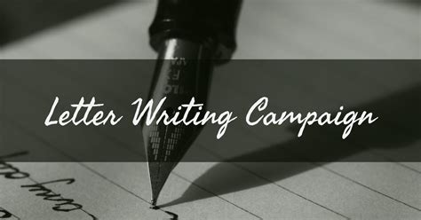 letter writing campaign