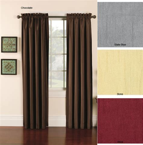 faux silk emerson 95 inch lined curtain panel pair