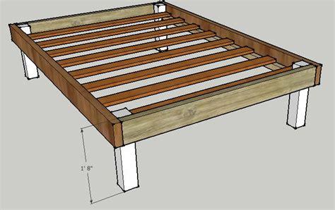 simple queen bed frame  luckysawdust  lumberjockscom woodworking community