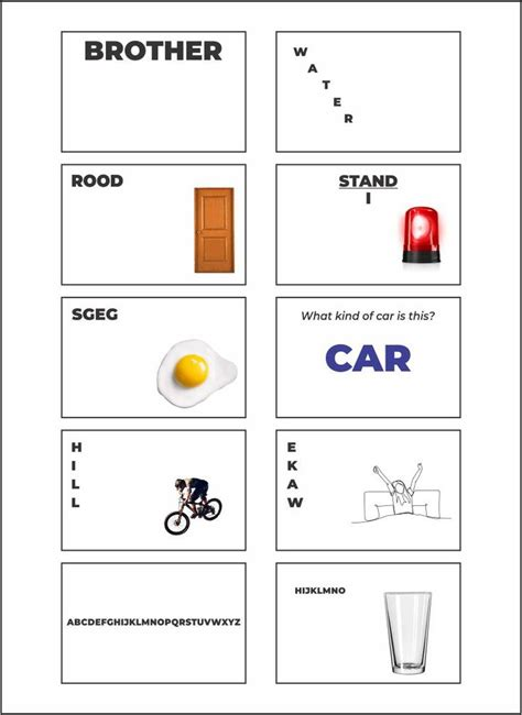 printable rebus puzzles  answers worksheets