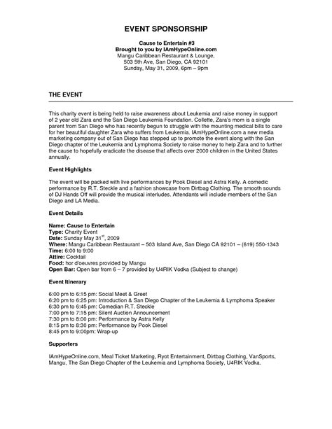 free sponsorship resume template sponsorship letter sle olympic sponsorship letter cover letter sle sponsorship