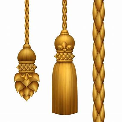 Tassels Gold Baroque Background Clip Classical Isolated