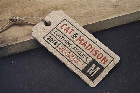 vintage label tag mockup graphicburger