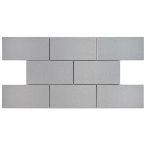 stainless steel tile merola tile alloy subway 3 in x 6 in stainless steel