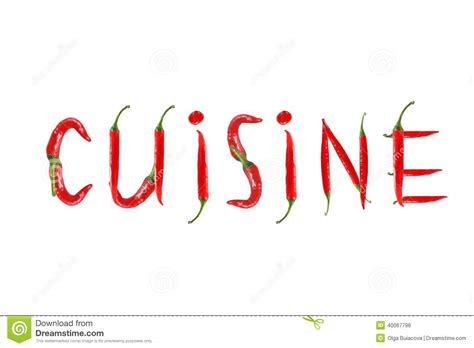 chili pepper isolated word cuisine stock photo