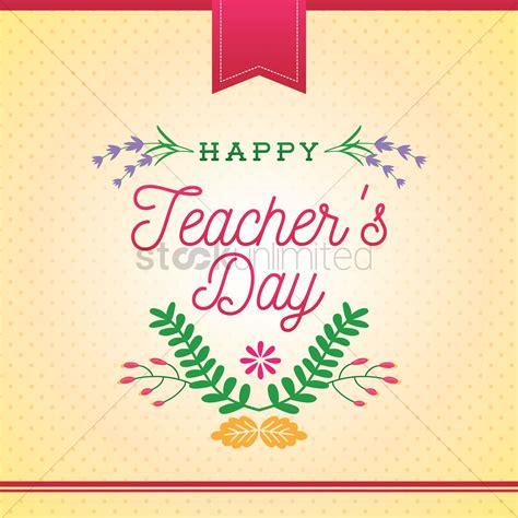 happy teachers day design vector image